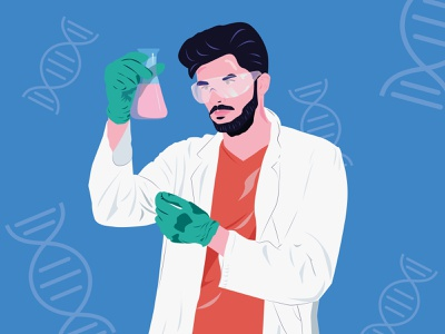 Biomedical Scientist science careers adobeillustrator digitalillustration illustration