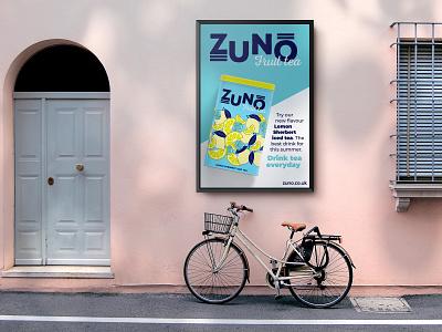 ZUNO Fruit Tea packaging design brand identity