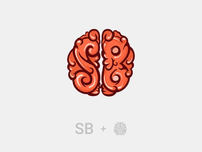 SB App Logo Design sb logo sb logo design sb video game brain game logo design logo