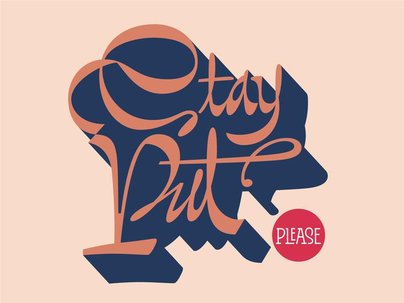 Stay put stayhome coronavirus ligature script contrast typography handmade vector bezierclub lettercollective custom lettering