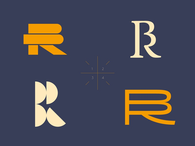 BR explorations contrast typography vector bezierclub lettercollective brand circle ligature serif geometric logo custom lettering logotype