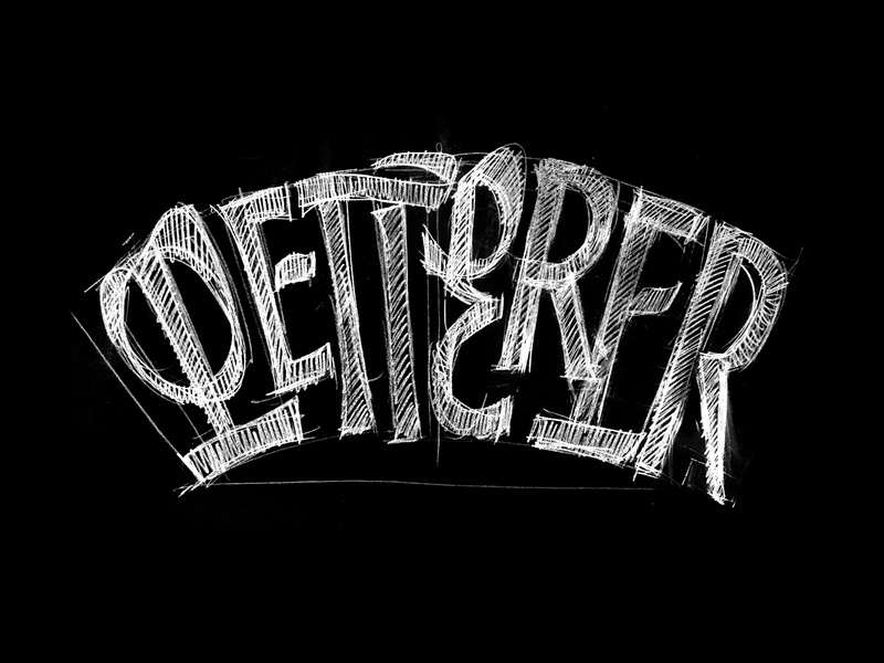 Letterer drawing pencil sketch ligature typography handmade vector bezierclub lettercollective custom lettering