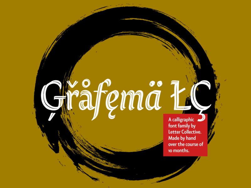 Ģřåfęmä ŁÇ ink brush contrast calligraphy handmade vector bezierclub lettercollective custom lettering