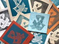 Ampersand | Linocut Letterpress Card
