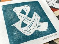 Ampersand | Linocut Handprinted Card