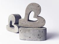 """3d Concrete Letter """"B"""""""