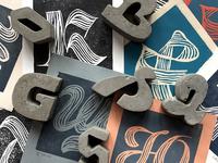Handprinted & Concrete letters