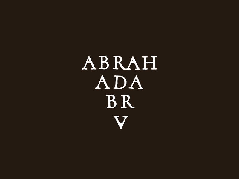 Abrahadabra logo design logotype logos brand branding and identity branding concept branding design branding logo typography design vector bezierclub lettercollective custom lettering