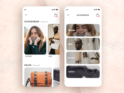 Clothes Shopping App bag mobile app shopping shopping app clothes typography ux sketch app ui flat icon design