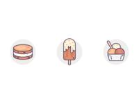 Vanilla & Chocolate Dessert Icons