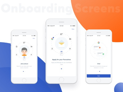 Job Search Onboarding Screens ux ui jobsearch onboarding