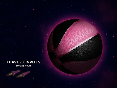 Dribbble Invite prospect player invited dribbble invite ball basketball invitation giveaway two rocket space