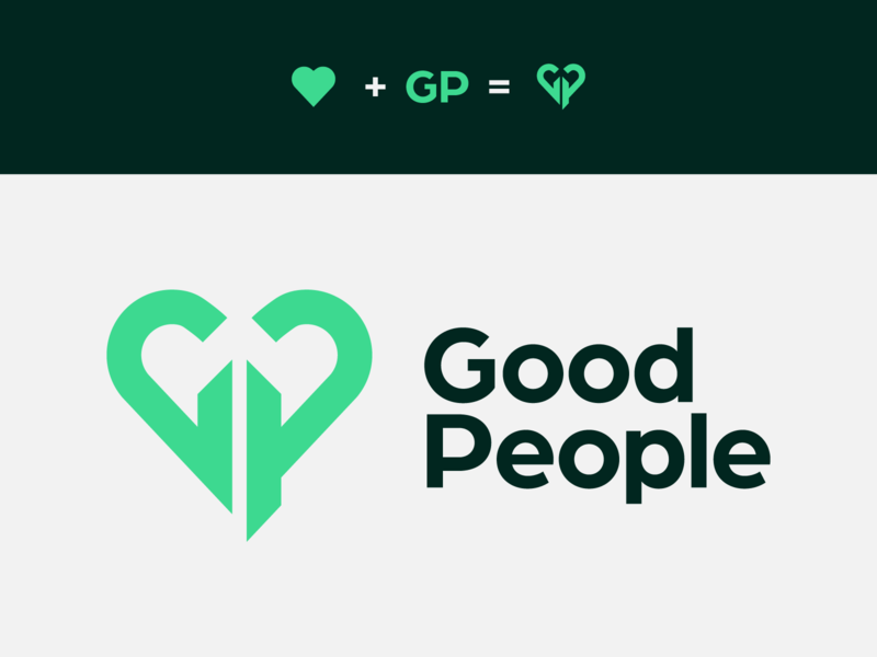 Logo Good People social logotipo logodesign brand brand design logotype branding logo graphic design good people