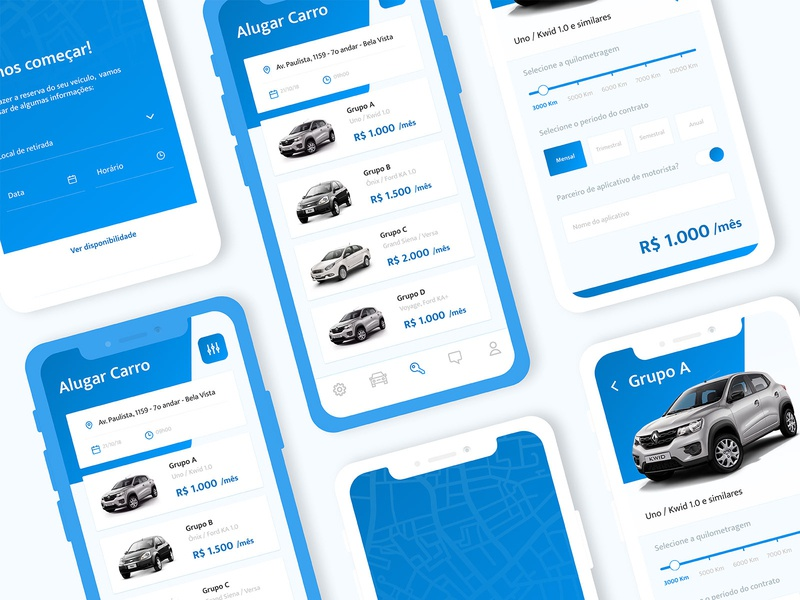 Car rent service mobile app