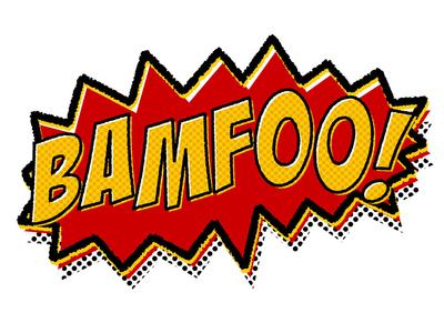 Bamfoo! action comic cartoon pop art