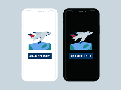 Delta #SameFlight Twitter Emoji flying delta airplane twitter illustration design emoji