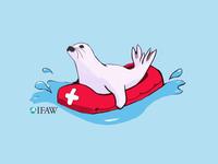 IFAW - Seal Sticker