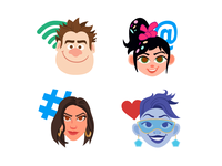 Ralph Breaks the Internet Twitter Emojis
