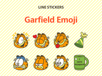 Garfield Emoji LINE Stickers