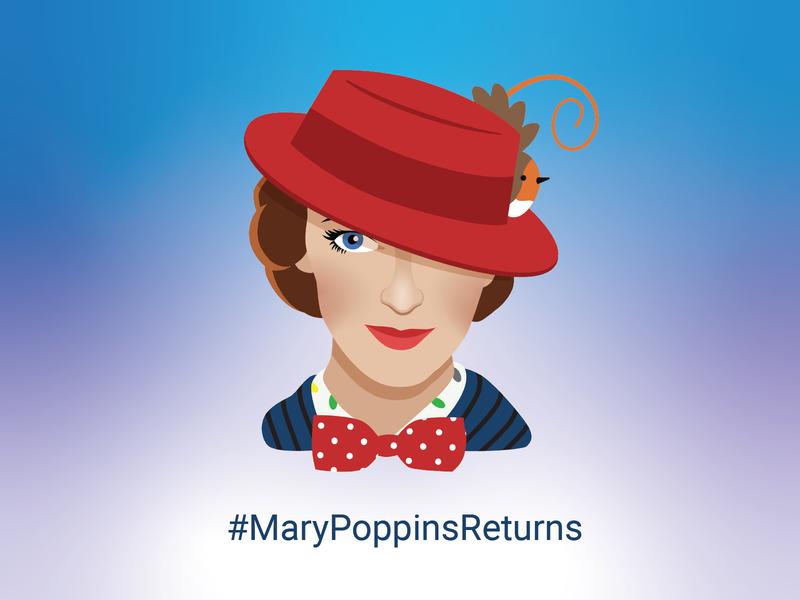 Mary Poppins Returns Twitter Emoji by Bare Tree Media on