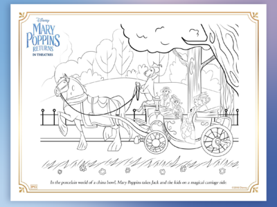 Mary Poppins Returns Carriage Ride