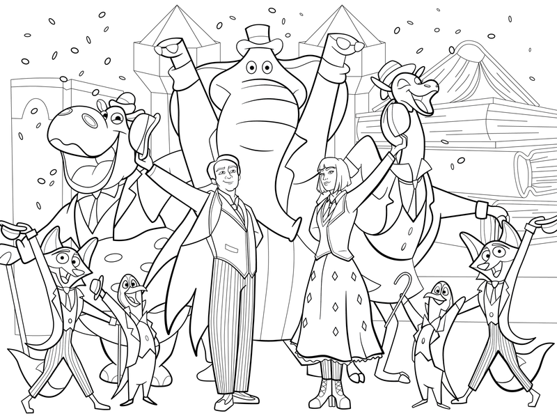 Mary Poppins Returns Coloring Page By Bare Tree Media On
