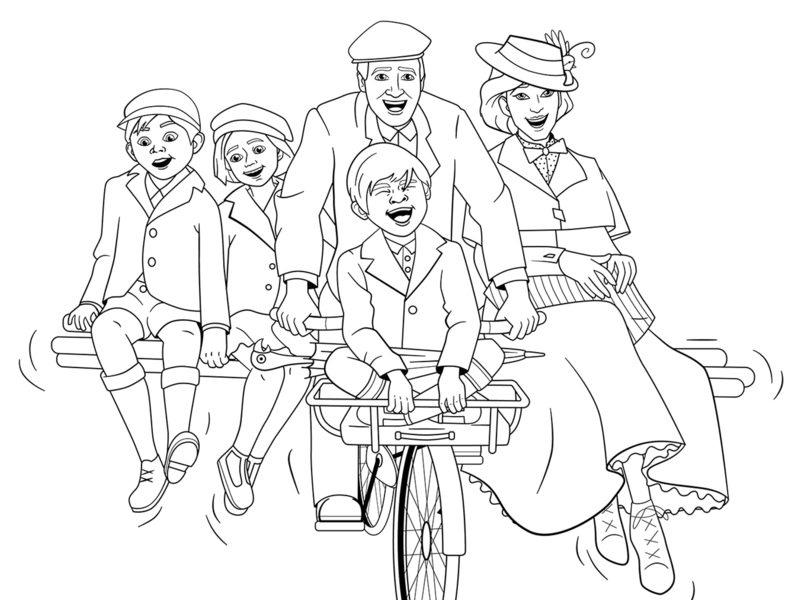 Mary Poppins Returns Coloring Page by Bare Tree Media on ...