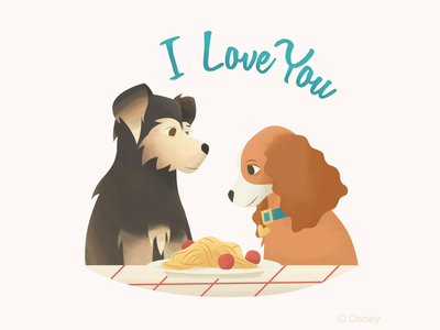 Lady and the Tramp Stickers