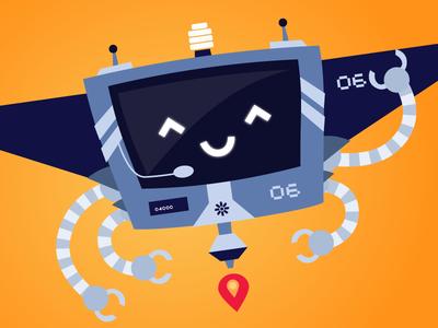 Robats character vector illustration mr robatto robats robot