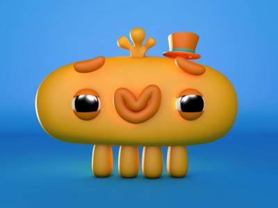 lil monsta 3d character monster