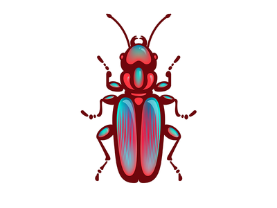 Scarabeus red 2d scarabeus vector