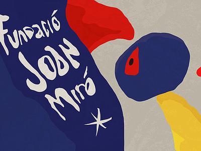 Fundació Joan Miró | Lovers vector surrealism illustration