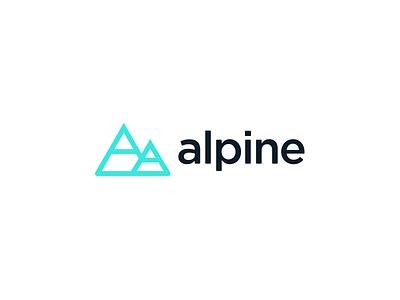 Alpine exploration a logo branding logo alpine