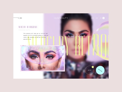 Huda Beauty | Product detail page typography brutalism colorful neon makeup fashion detailpage creative webdesign web ux ecommerce ui minimalistic minimal design clean