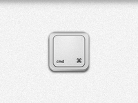 Cmd Keyboard Icon Pressed