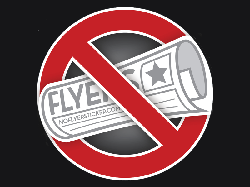 No Flyers Sticker sticker recycling post office post no junk mail no flyers mailbox mail magnet environment climate change