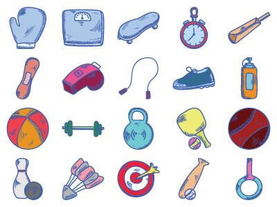 Sports Pack. soccer equipment soccer uniform whistle equipment set shoes sports icons soccer sport