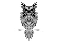 Hand drawn owl.