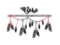 Boho style. Creative ethnic hand drawn elements