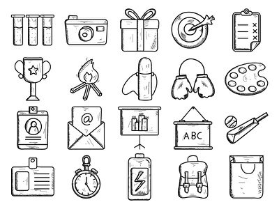 Business & finance Vol 2 notepad shopping bag cup chat clock id card open mail business icon business icon set business  finance