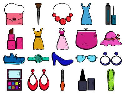 Beauty & Fashion Vol 2 mogu makeup icon fashion colorful cloth categories beauty icon set beauty  fashion icon