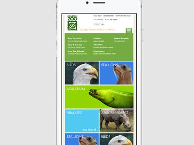 Houston Zoo Website / Mobile Site houston zoo product design mobile site houstonzoo