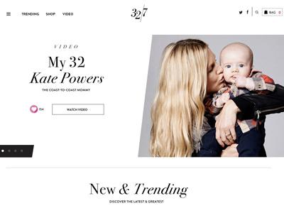 32/7 Website commerce fashion ui ux mobile design responsive design design website