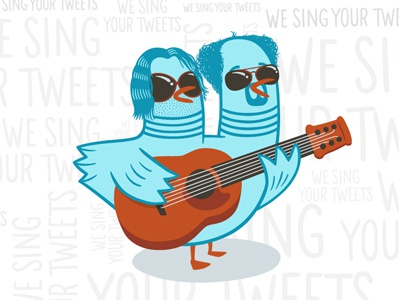 We Sing Your Tweets type illustration