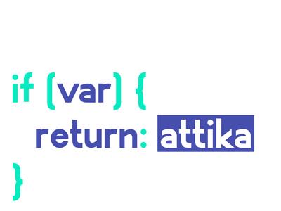 Attika variable typeface variable typogaphy