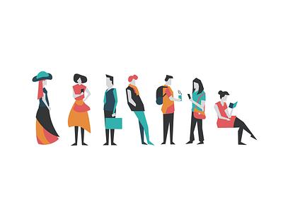 Figures figures people flat vector illustration