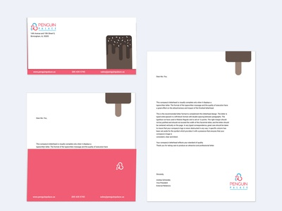 Penguin Palace letter square branding design