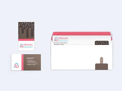 Penguin Palace cards design branding
