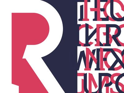 Rebar cover typography flat vector