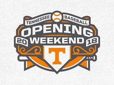 UT Baseball Opening Weekend branding logo sports opening day opening weekend baseball volunteers university of tennessee